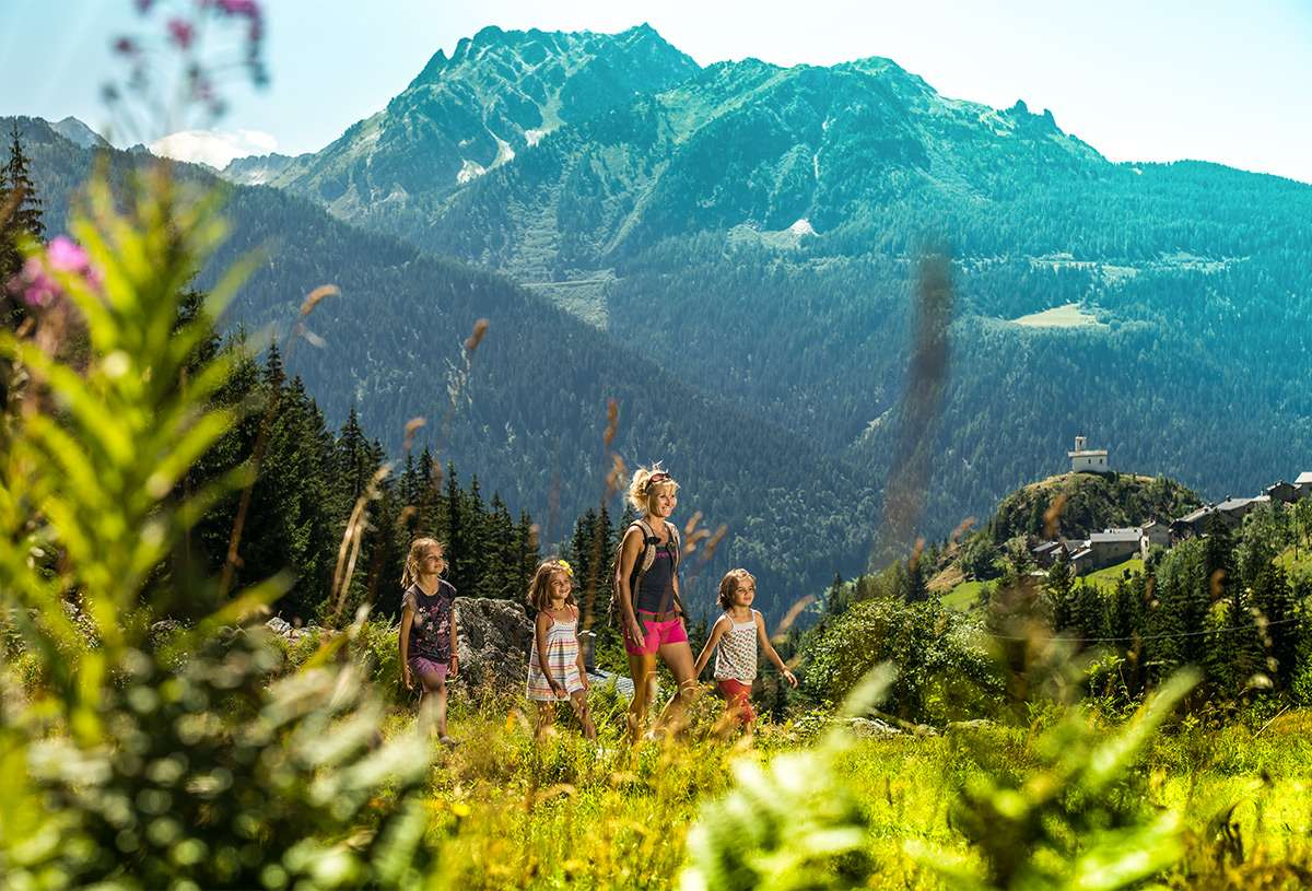 family and the mountains