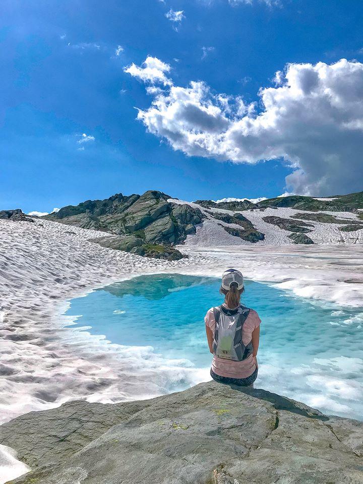 lac du retour + snow